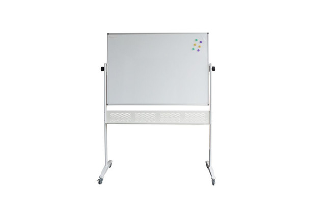 Budget Mobile Whiteboard - Flippable Double Sided Surface
