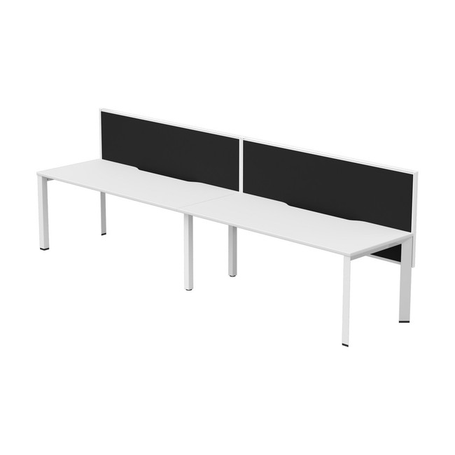 Two Person Straight Single Sided Workstation Desks - Dimension + Connect 30