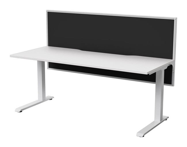 Modern Office Desk with Screen - Strata Standard + Connect 30