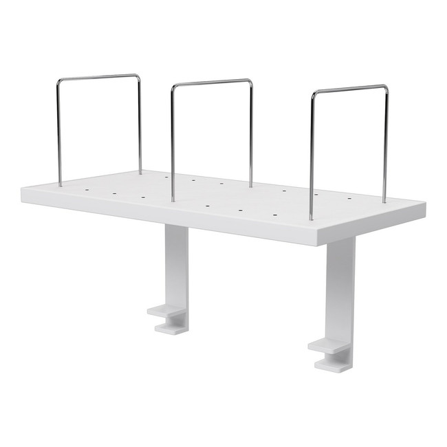 Desk Mounted Shelf with 3 x Chrome Dividers - 600W