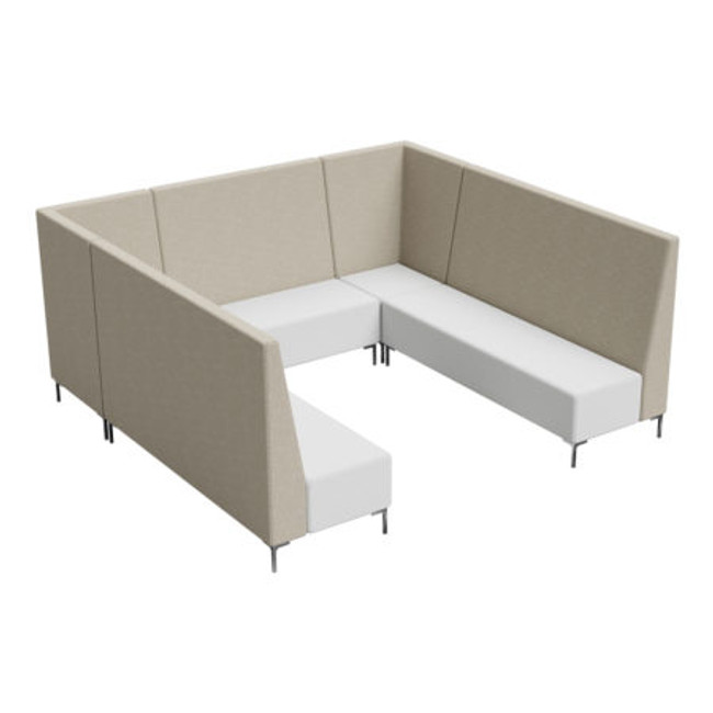Flo 7 Seater Tall Huddle Seating - Collaborative Meeting Furniture