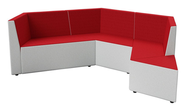 Zig 3 Seater Configuration with Ottoman - Collaboration Furniture
