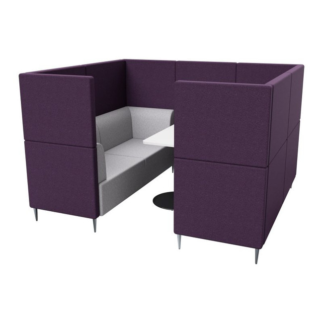 Harper 4 Seater Collaborative Booth Seating