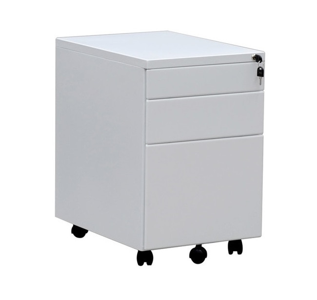 OM Metal Mobile Pedestal with Two Drawers and One File