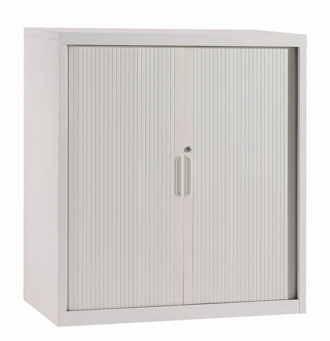 OM Metal Tambour Door Cabinet with Adjustable Shelves