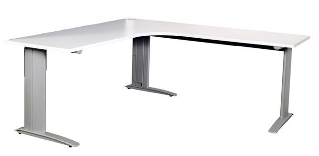 Summit Corner Office Desks - Metal C Leg Workstation