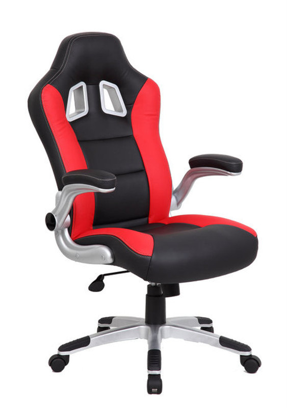 Red Formula 1 PU Leather Executive High Back Racer Chair