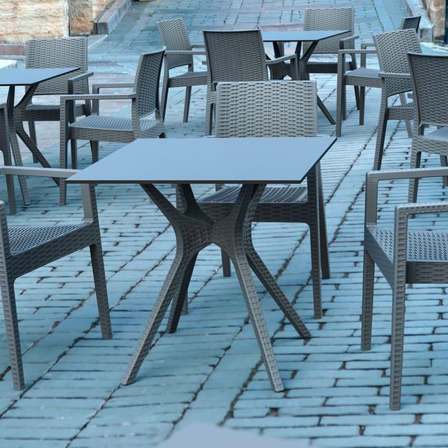 Ibiza Outdoor Cafe Table Square Top