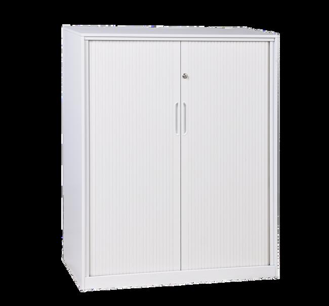 GP Steel Tambour Door Unit - White - Lockable