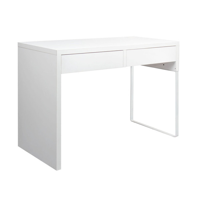 Artiss White Metal Office Desk with 2 Drawers