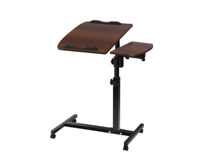 Adjustable Walnut Computer Stand