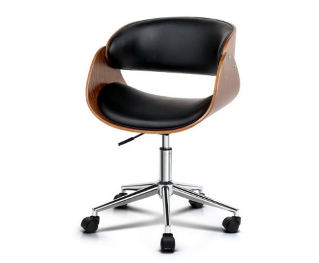 Artiss Wooden & PU Leather Armrest Office Visitor Chair