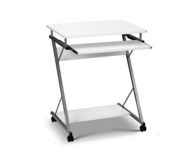 Artiss Metal Pull Out White Table Desk