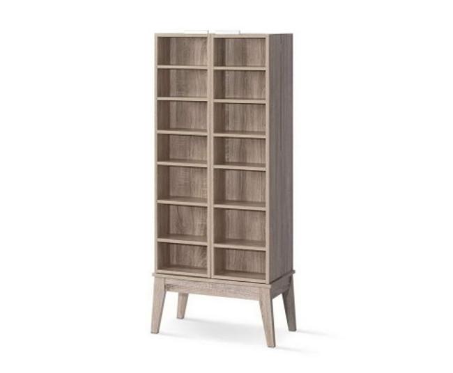 Artiss Oak CD/DVD Media Shelf Adjustable Foldable Bookshelf
