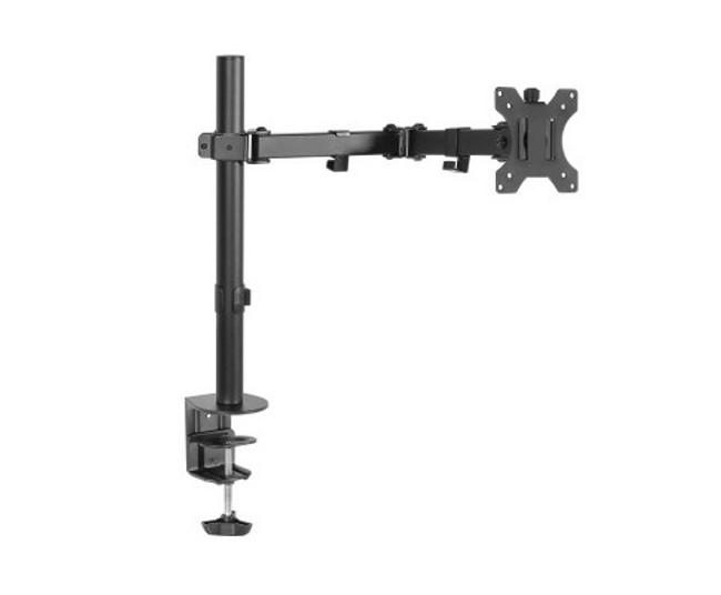 Artiss Single Fully Adjustable LED Monitor Arm - Black