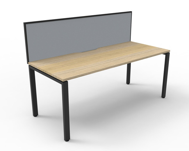 Deluxe Quick Infinity 1 Person Single Sided Desks with Screen - Profile Leg