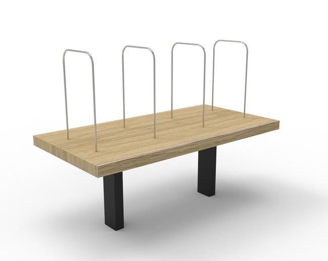 Deluxe Desk Mounted Shelf