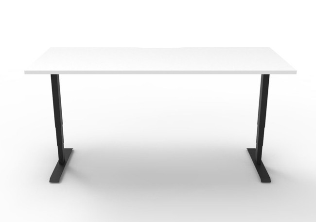 Lift Height Adjustable Workstation with 750mm D Scallop Top