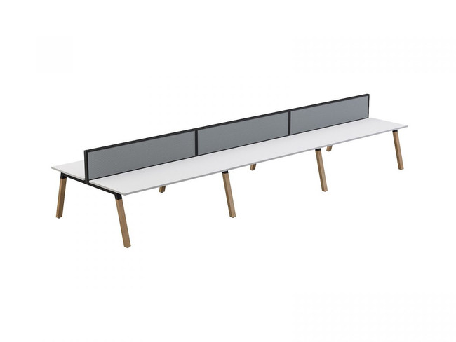 Grove 6 users Double - Sided Desk with Studio 50 Screen