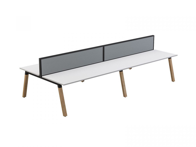 Grove 4 users Double - Sided Desk with Studio 50 Screen