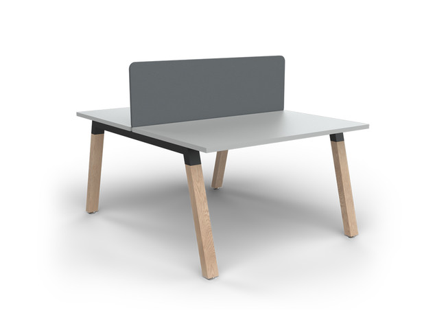 Grove 2 users Double - Sided Desk with Radius Screens