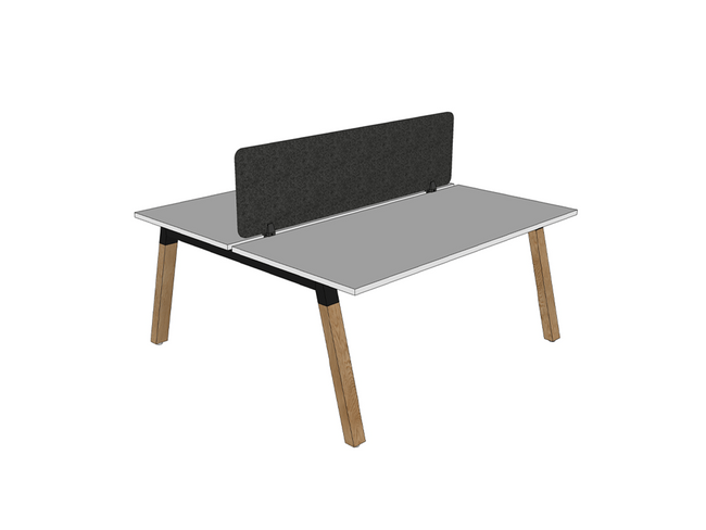 Radius18 Screen Trestle and Modulus Double Sided Desks