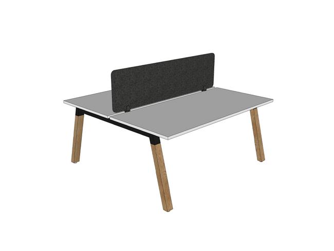 Radius18 Screen Trestle and Modulus Double Sided Desks