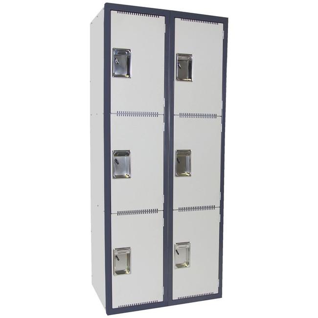 Steelco Heavy Duty 3 Door School Lockers Bank of 2