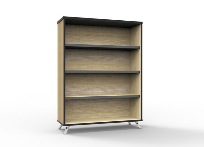 Deluxe Infinity Bookcase Featuring Black Edging
