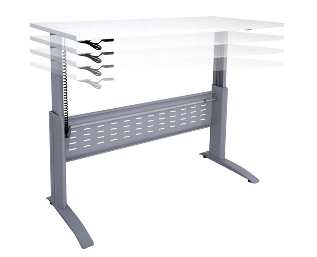 Quick Span Electric Sit To Stand Height Adjustable Open Workstation