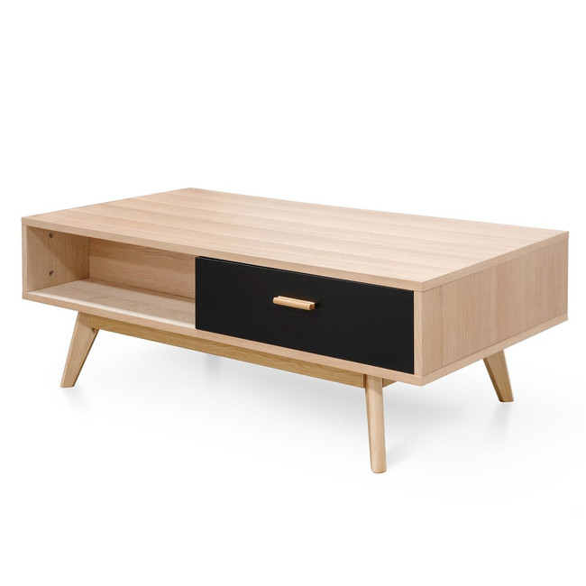 Ava 120cm Coffee Table In Natural - Black