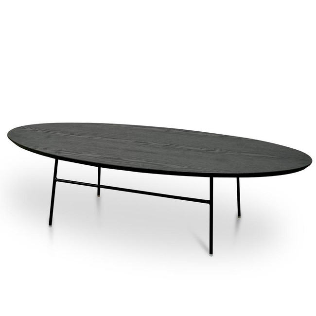 Ivy Coffee Table - Black Ash Veneer - Black Legs