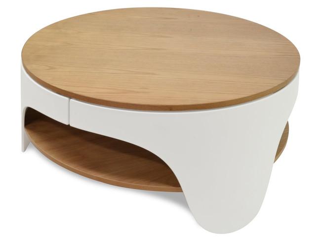 Harper Round Coffee Table -White