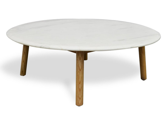 Sophie Marble Round Coffee Table - Natural