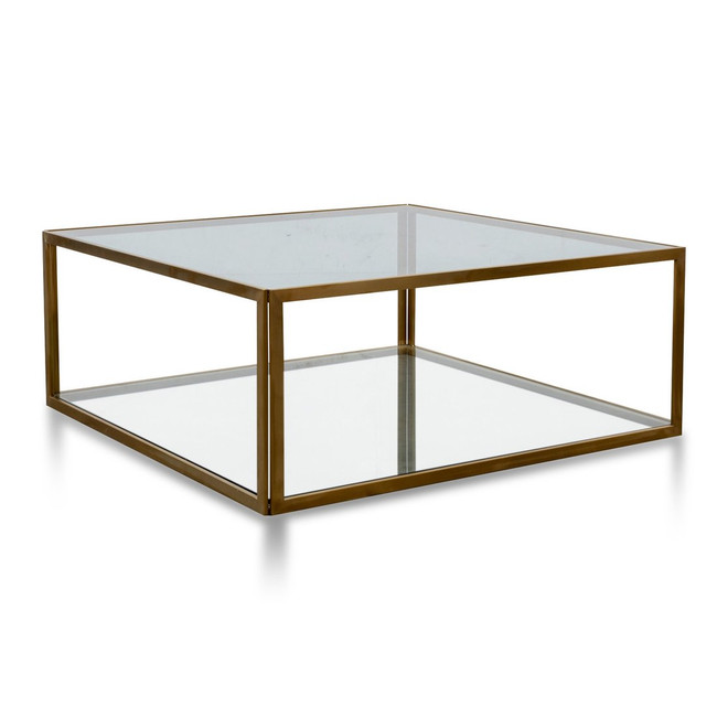 Emma Glass Coffee Table - Gold Base