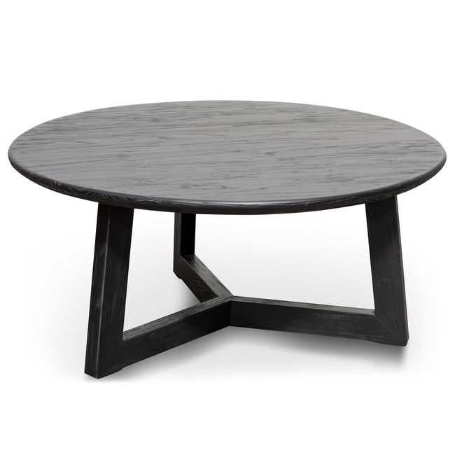 Isabella Round Coffee Table - Black