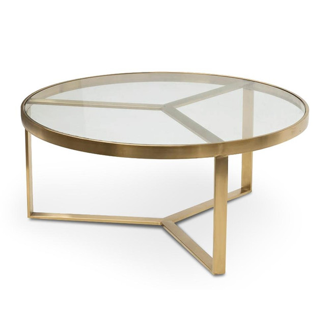 Evelyn Coffee Table - Brushed Gold Base
