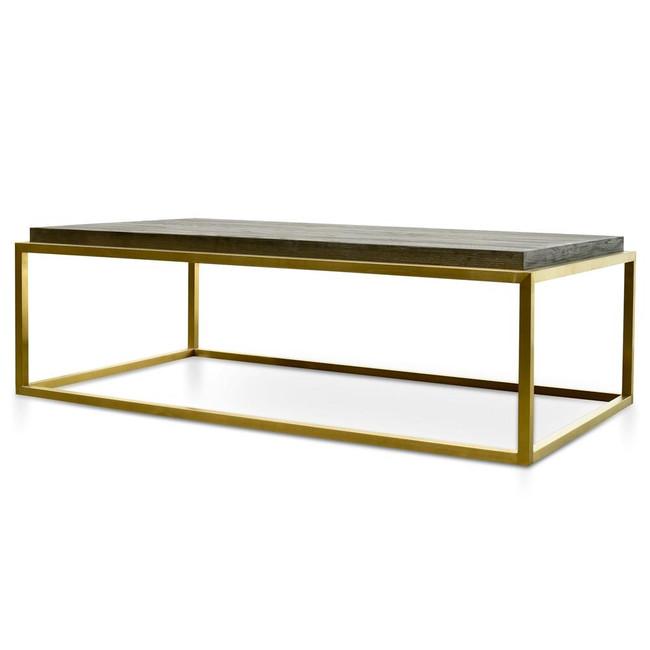 Georgia Rectangle Coffee Table - Black - Golden