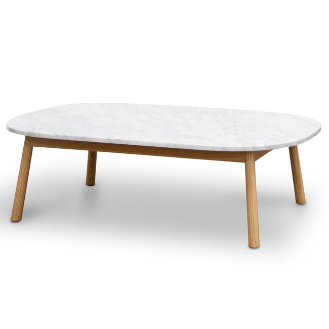 Isabelle Marble Coffee Table - Natural Base