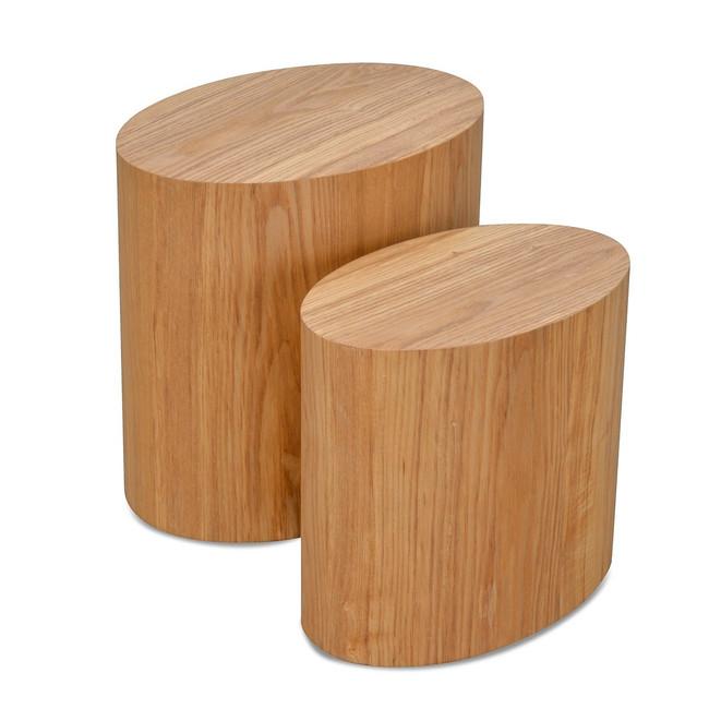 Grace Scandinavian Set of Tables - Natural