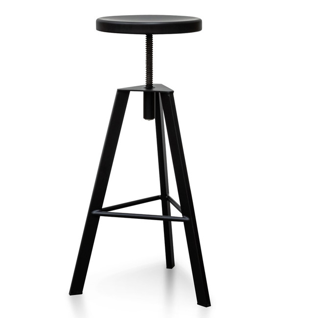 Layla Steel Bar Stool - Black