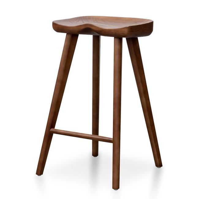 Poppy Wooden Bar stool - Walnut