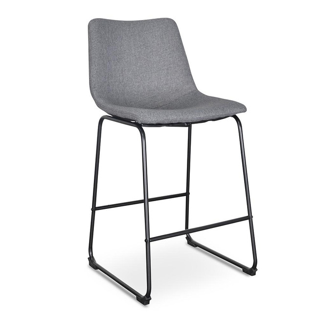 Mackenzie Bar Stool - Dark Grey (Set of 2)