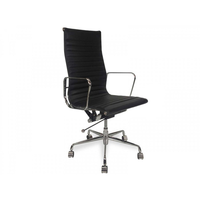 Jessica Leather Office Chair - Black