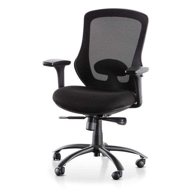 Ariana Office Chair - Full Black