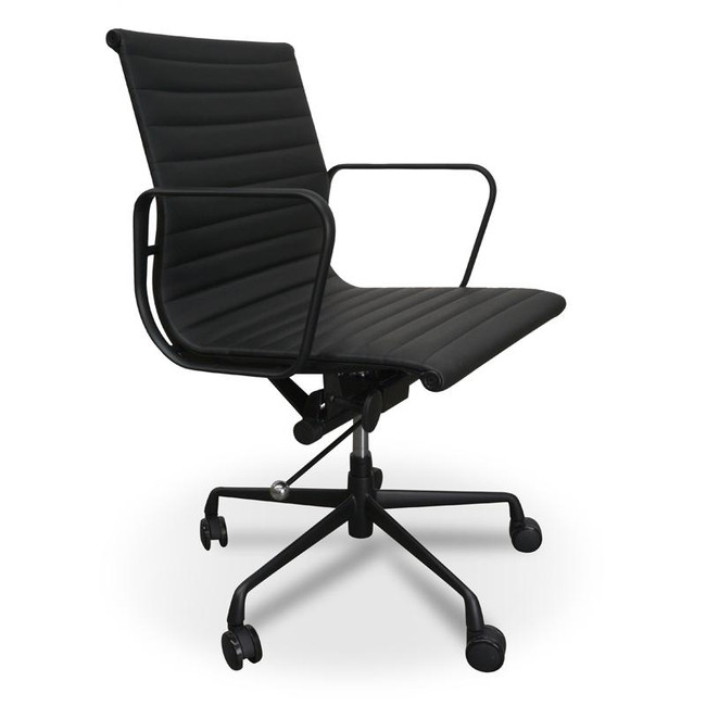 Harrow PU Leather Office Chair - Full Black