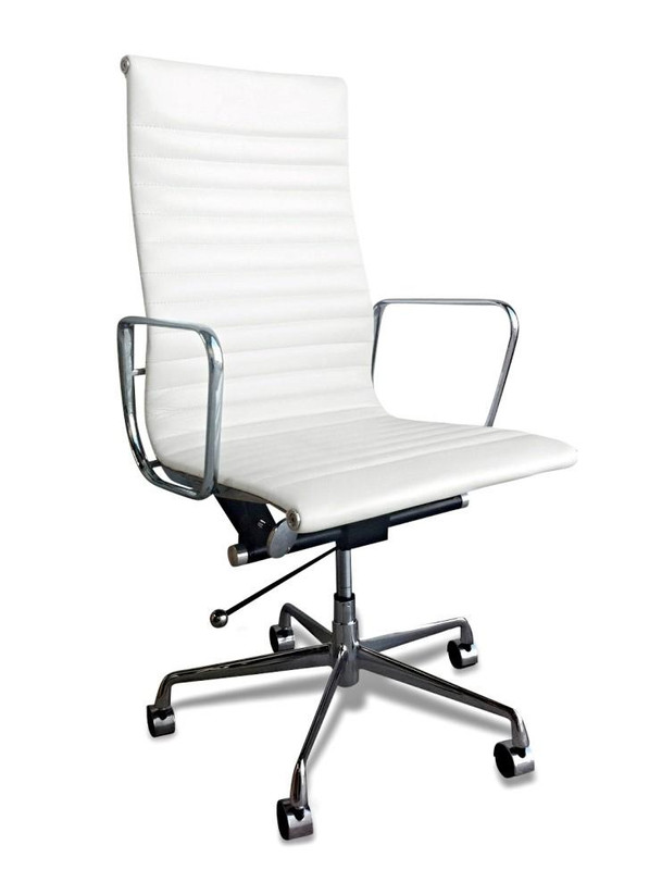 Harrow Leather Office Chair - White