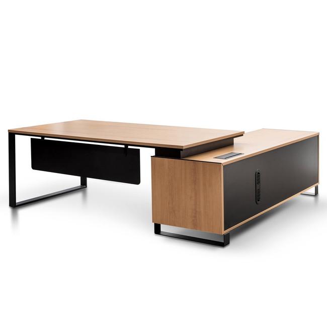 Albany Left Return Office Desk - Natural