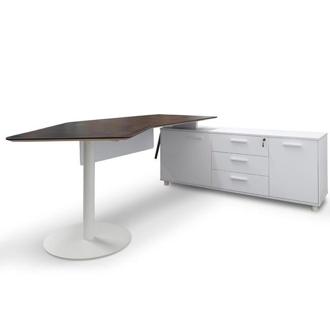 Auburn Executive Office Desk Right Return - Black