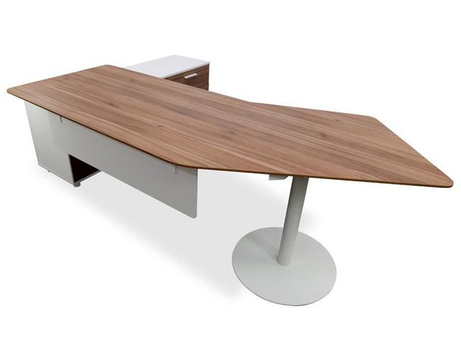 Avenel Executive Office Desk Right Return -Walnut